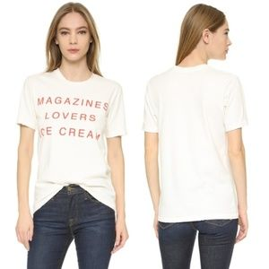 Wildfox I Owe It To Lovers Distressed Graphic Tee